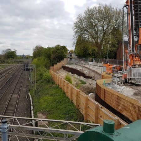 Featherbed Lane Road/ Apsley Rail Bridge – Going the extra pile!