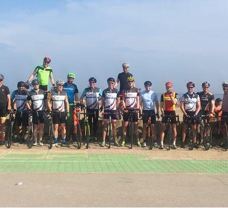 M25 Cyclists ride from Spain to France for Charity