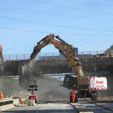 M27 reopens 16 hours early – Romsey Road Bridge Demolition