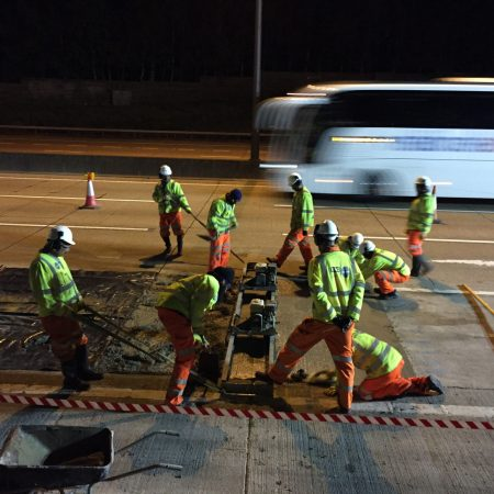Trials guarantee motorway quality at 60% of the traditional repair time