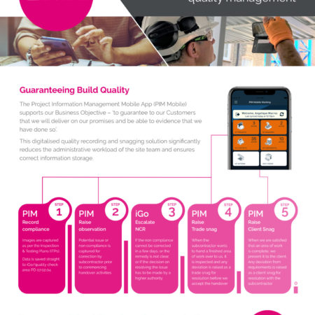 PIM Mobile APP simplifies quality recording