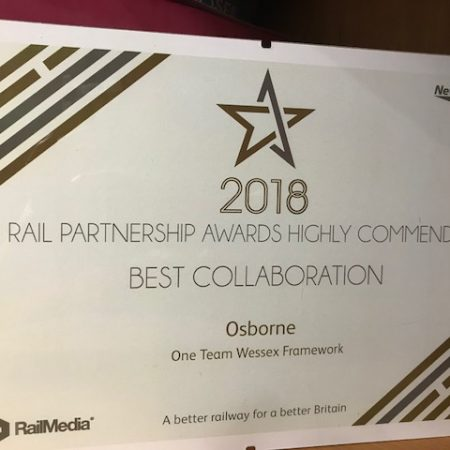 One Team Wessex 'Highly Commended' in Rail Partnership Awards
