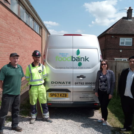A500 Etruria Widening Team Donate to Stoke-on-Trent Foodbank